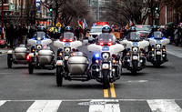 Motorcycle Escort to kick off the Parade