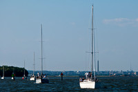 Sailboats, in a Line Heading out to Race_CDS3904