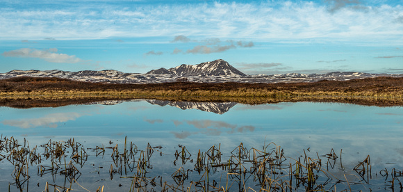 Myvatn Mountain Reflection