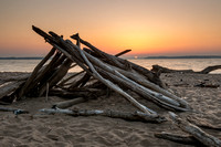Beachside Log Chimney